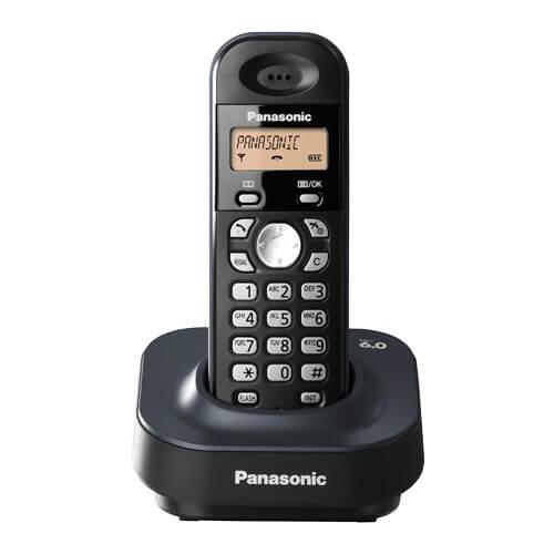 Telefone sem fio Panasonic KX-TG1381LBH - DECT 6.0 - Identificador de Chamadas - Discagem Rápida - Visor Iluminado - Preto