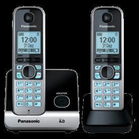 Telefone sem fio Panasonic KX-TG1381LBW Branco - Identificador de Chamadas - Discagem Rápida - Agenda - DECT 6.0