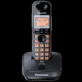 "Telefone sem fio Panasonic KX-TG4011LBT - Viva voz - Identificador de Chamadas - Visor de 1.4"" - Agenda - DECT 6.0 - Preto"