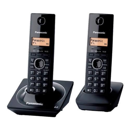Telefone sem fio Panasonic KX-TG1712LBB + 1 Ramal - Identificador de Chamadas - Agenda - DECT 6.0 - Black Piano