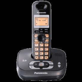"""Telefone sem fio Panasonic KX-TG4021LBT - Viva voz - DECT 6.0 - Id. de Chamadas - Visor de 1.4"""" - Secretária Eletrônica - Preto"""