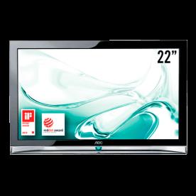 """TV LED 22"""" Widescreen Full HD AOC LE22H158 - HDMI - USB - Conversor Digital"""