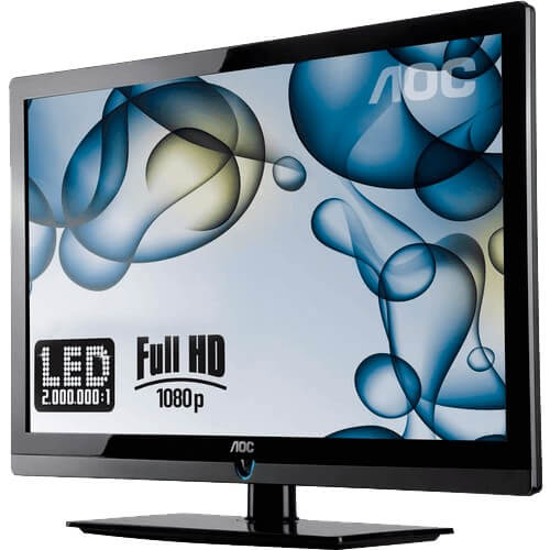 "TV 40"" LED Slim AOC LE40H157 - Conversor Digital - Entradas HDMI e USB - Digital Noise Reduction"