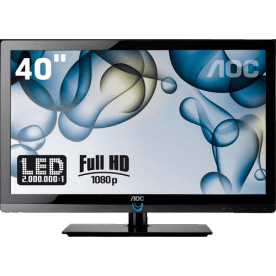 "TV 40"" LED Slim AOC LE40H157 - Conversor Digital - Entradas HDMI e USB - Digital Noise Reduction"