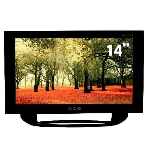 "TV LED 14"" CCE L144 - Conversor Digital - Closed Caption - USB - Áudio Stereo - Preta"