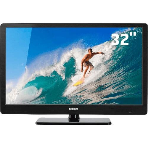 """TV LED 32"""" CCE LT32G Preta - Entradas USB e HDMI - Conversor Digital - Sleep Timer"""