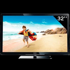 "TV 32"" LED HD Ready Digital Philips 32PFL3507D/78 - HDMI - USB - Conversor Digital"
