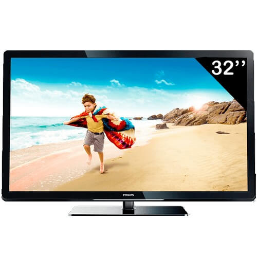 "TV 32"" LED HD Ready Digital Philips 32PFL3507D/78 - HDMI - USB - Conversor Digital"