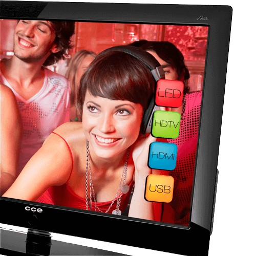 "TV CCE 32"" LCD Stile D3201 HDTV - Entrada HDMI - USB Conversor Digital"