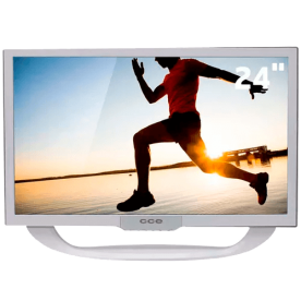 "TV LED CCE 24"" LN24GW Branca - HDTV - Widescreen - Entradas HDMI e USB - Conversor Digital - Sleep Timer"