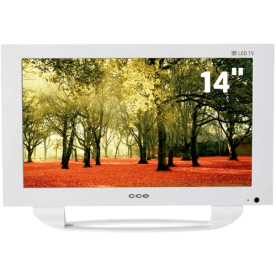 "TV CCE LED 14"" LN14GW Branca - Widescreen - USB - Áudio Stereo - Conversor Digital"