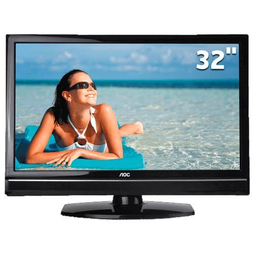 """TV LCD AOC 32"""" Widescreen LC32W053 - HDMI e USB - HDTV - Conversor Digital"""