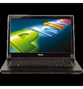 "Notebook Philco 14J-P1044W8CL42 - Dual Core - 4GB - HD 500GB - Tela LED 14"" Widescreen - Preto - Windows 8."