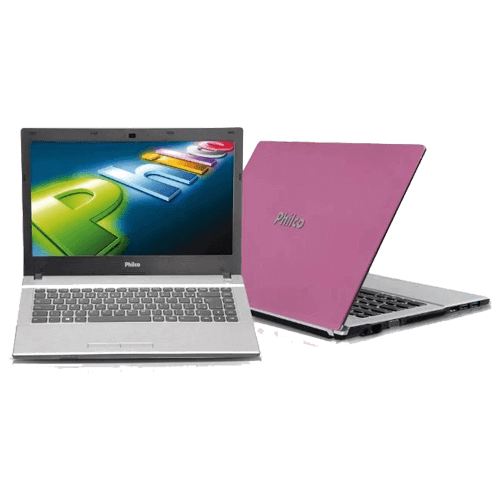 "Notebook Philco 14F-L723LM7 - Dual Core - 2GB - HD 320GB - Tela 14"" - Lilás - Linux"