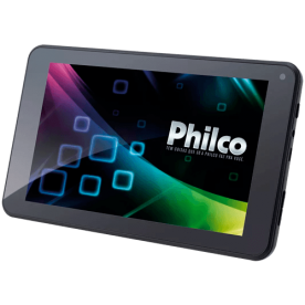 """Tablet Philco 10.1A-B111A4.0 com processador ARM Cortex A8 de 1GHz de velocidade, memória interna de 8GB, câmera traseira de 2MP e frontal de 0.3MP, conexão Wi-Fi, tela de 10.1"""" e sistema..."""