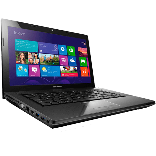 "Notebook Lenovo G405-90A90000BR - AMD E1-2100 - RAM 4GB - 500GB - AMD Radeon HD - Tela 14"" - Preto - Windows 8.1"