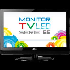 """TV Monitor AOC LED 23"""" Widescreen Full HD T2355WE - Conversor Digital Integrado - Entrada HDMI"""