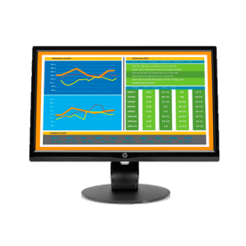 """Monitor HP V223HZ L4C71AA LED 21.5"""" - 1920x1080 - 1000:1 - 250 cd/m² - Resposta 5ms - Ajuste de altura"""