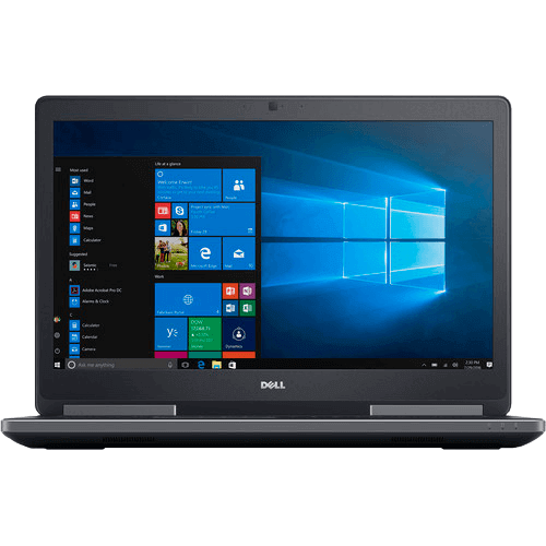 "Notebook Dell Precision 7720 - Intel Core i7-6820HQ - NVDIA Quadro M1200 - RAM 32GB - HD 500GB - Tela 17.3"" - Windows 10"