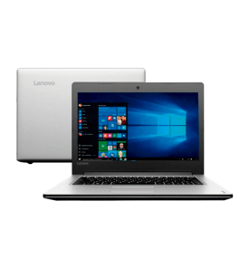 "Notebook Lenovo Ideapad 310-14ISK-80UG0000BR - Prata - Intel Core i3-6100U - RAM 4GB - HD 1 TB - Tela 14"" - Windows 10"