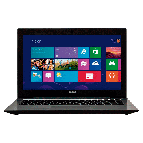 "Notebook CCE Ultra Thin T325 - HD 500GB - RAM 2GB - Intel Core i3-3217U - LED 14"" - Windows 8"