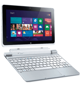 Notebook Acer 2 em 1 - W510-1408 - Intel Atom - RAM 2GB - Memória Interna 64GB - LED 10.1 Touch - Windows 8
