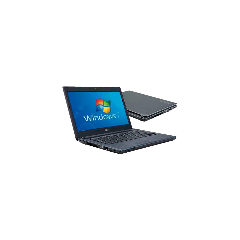 Notebook Acer AS4739-6864 - Intel Core i3 - 14'' - RAM 2GB - HD 500GB - Windows 7 Home Basic