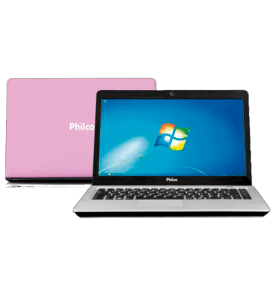 "Notebook Philco 14H-R123WS - Rosa - Intel Atom D2500 - RAM 2GB - HD 320GB - Tela 14"" - Windows 7 Starter"