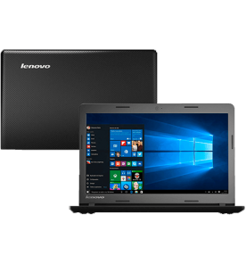 "Notebook Lenovo Ideapad 100 Preto - Intel Celeron N2840 - RAM 4GB - HD 500GB - Tela LED 15,6"" - Windows 10"