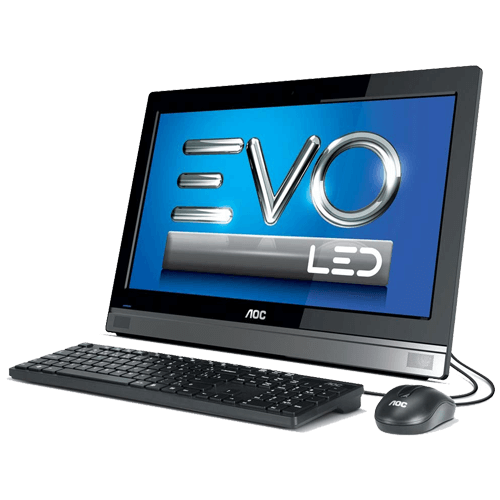 "Computador All In One EVO AOC 20C45U-W81SL - Quad Core J2900 - RAM 4GB - HD 500GB - Tela 19,5"" - Windows 8.1"