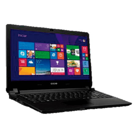 "Notebook CCE N345 Ultrafino - Intel Core i3-3217U - HD 500GB - RAM 4GB - LED 14"" - Windows 8"