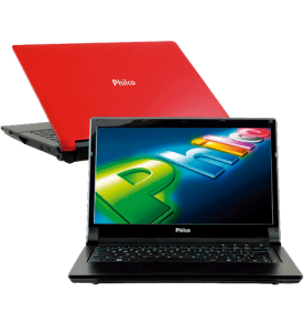 "Notebook Philco 14G-V123WS - Intel Atom Dual Core D2500 - RAM 2GB - HD 320GB - 14"" Widescreen - Vermelho - Windows 7 Starter"
