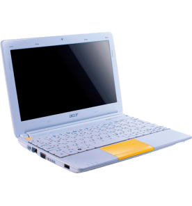"Netbook Acer Aspire One Happy 2-1614-XC - Intel Atom N570 - RAM 2GB - HDD 500GB - Tela 10"".1 LED - Amarelo - Windows 7 Starter"