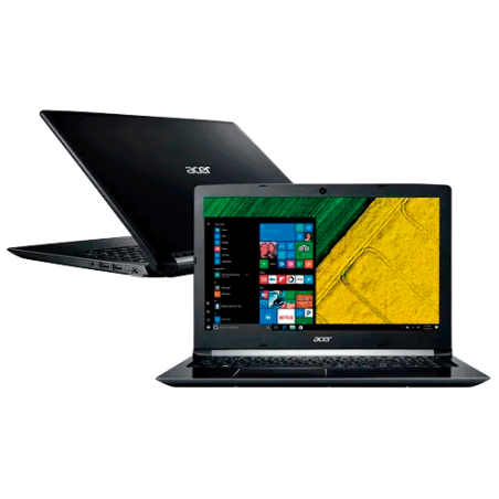 "Notebook Acer A515-51G-58VH - Intel core i5 7200U/H22 - 8GB - NVIDIA 2GB - 1TB - LED 15.6"" - Windows 10"