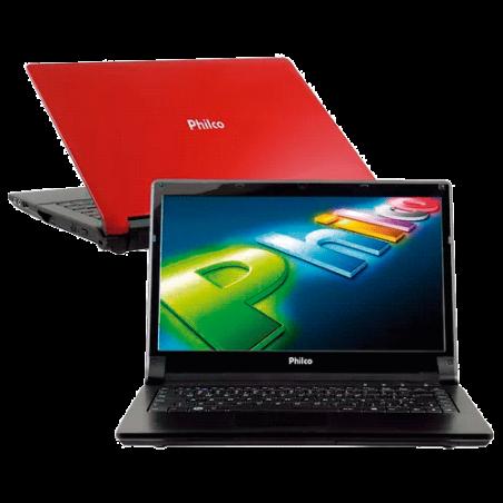 """Notebook Philco 14I-V724W8SL - AMD C-60 - 2GB RAM - 500GB - Vermelho - Tela 14"""" - Windows 8"""