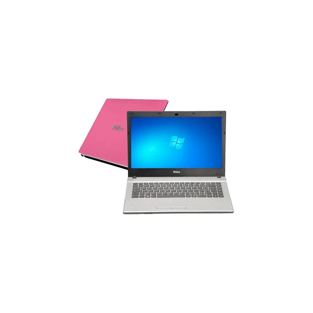 Notebook Philco 14G-R144WB-B - Dual Core- RAM 4GB - HD 500GB - Rosa - Windows 7 Home Basic
