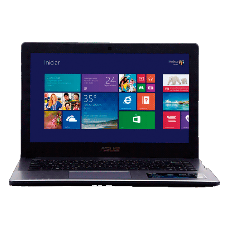 "Notebook Asus X450CA-BRAL-WX184H - Intel Core i5-3317U - RAM 8GB - HD 500GB - LED 14"" - Windows 8"