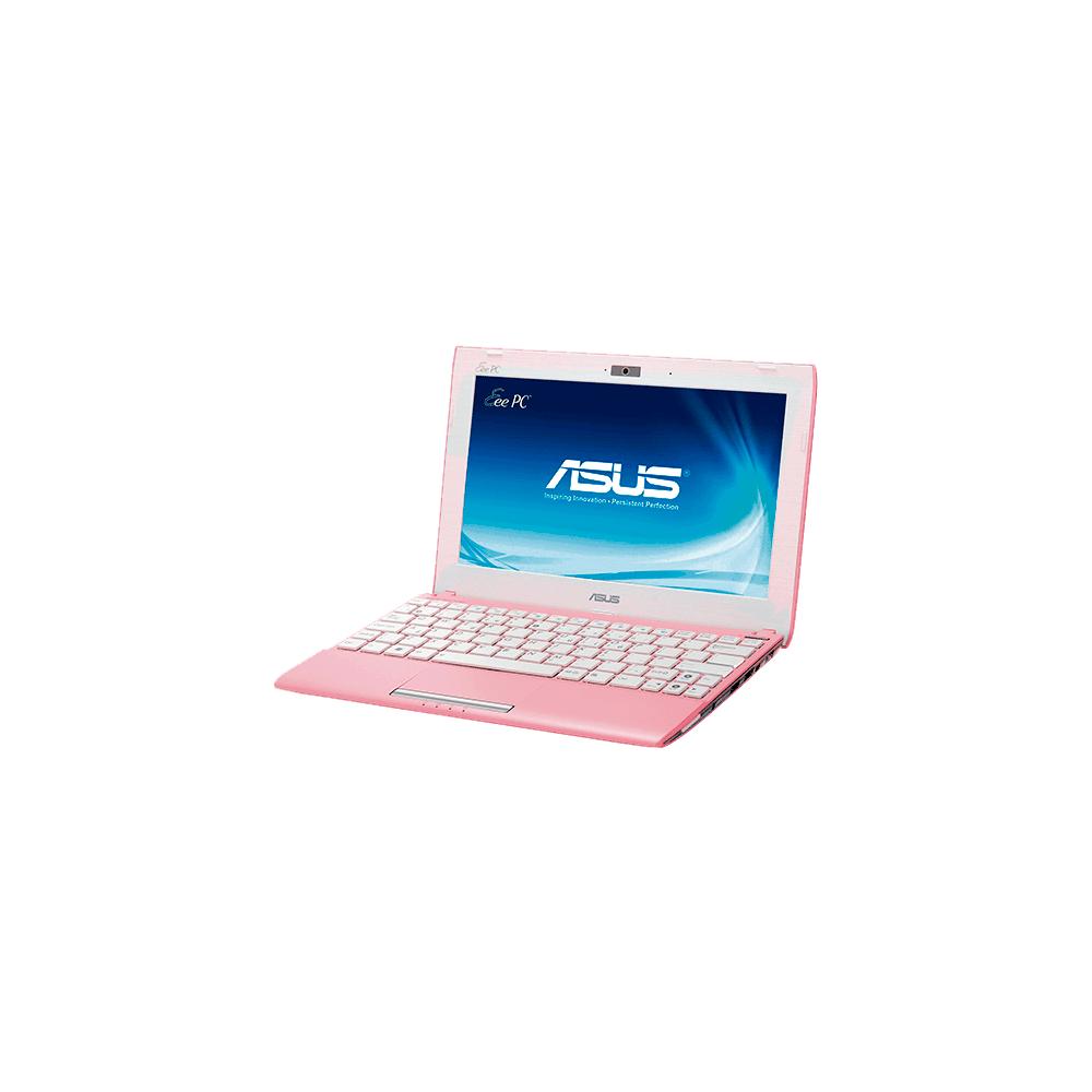 Netbook Asus 1025C-PIK029S - Intel Atom N2600 - RAM 2GB - HD 320GB - Tela LED de 10.1'' - Rosa - Windows 7 Starter
