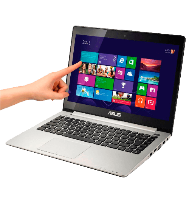 "Notebook Ultrafino Asus S400CA-CA178H - Intel Core i5-3317U - RAM 4GB - HD 500GB - LED 14"" - Touchscreen - Windows 8"