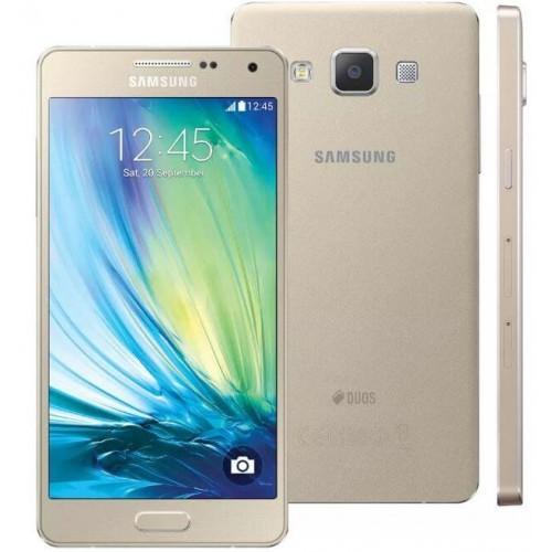 Smartphone Samsung GX A5 - SM-A5000M - Dual-Chip - Dourado - 16GB - 13MP - 5¨ - Android 4.4