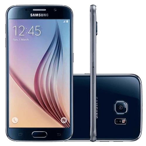 """Smartphone Samsung Galaxy S6 - 32GB - 4G LTE - Octa Core - Câmera 16MP - Super AMOLED 5.1"""" - Android 5 Lollipop - Preto"""