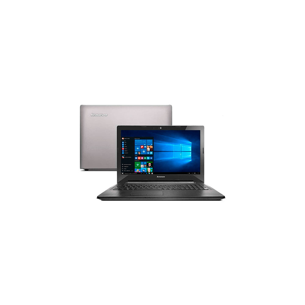 "Notebook Lenovo G50-80-80R00009BR Prata - Intel Core i7-5500U - RAM 8GB - HD 1TB - Tela 15.6"" - Windows 10 Home"