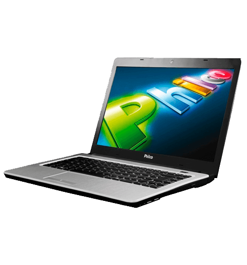 "Notebook Philco 14I-S7243LM - Cinza - AMD Brazos Dual Core - 4GB RAM - 320GB HD - 14"" - Linux"