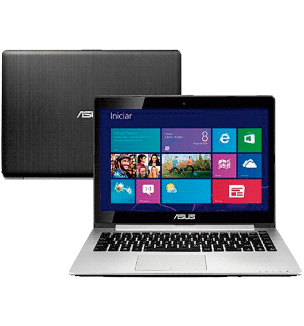 "Notebook Asus VivoBook S400CA-CA099H Touch - Intel Core i3-2365M - RAM 4GB - HD 500GB - LED 14"" - Windows 8"