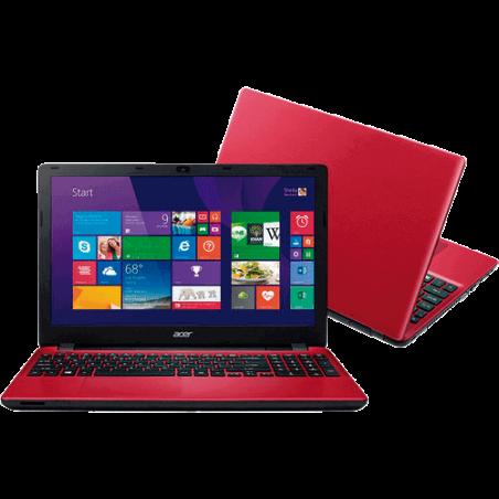 "Notebook Acer E5-571-376T Vermelho - Intel Core i3-5005U - RAM 4GB - HD 1TB - LED 15.6"" - Windows 8.1"