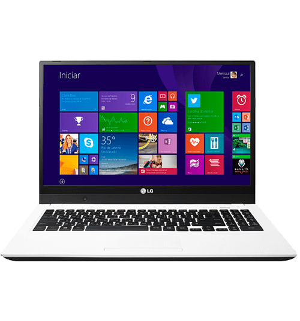 "Notebook LG 15U530-G.BK55P1 - Branco - Intel Core i5-4200U - RAM 4GB - HD 500GB - Tela 15.6"" IPS - Windows 8.1"