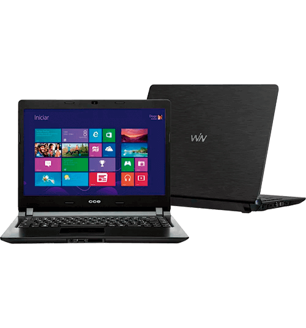 "Notebook CCE Ultra Thin U25 - Intel Celeron 847 - HD 320GB - RAM 2GB - Tela 14"" - Windows 8"