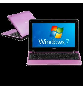 "Netbook Philco 10B-R123WS - Intel Atom - 2GB RAM - HD 320GB - Rosa - Tela 10.1"" Widescreen - Windows 7 Starter"