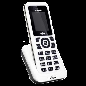 "Telefone Huawei FWT F361 - Sem fio - LCD 1.8"" - Rádio FM - Serviço SMS - Branco"