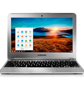 "Notebook Samsung Chromebook XE30C12-AD1BR - Prata - Exynos 5 Dual - RAM 2GB - HD 16GB - Tela 11.6"" - Google Chrome OS"